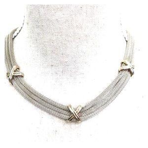 Park Lane Silver-Tone mesh necklace.